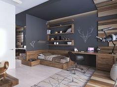 Подростковая комната в современном стиле - фото 1