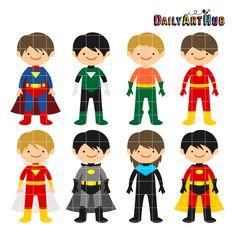 http://dailyarthub.com/product/free-superhero-boys-clip-art-set/