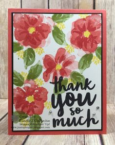 Penned and Painted Thank you's – Just Sponge It!