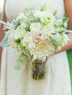 Natural Loose Wildflower Pale Bridesmaid Bouquet