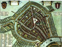 Afbeeldingsresultaat voor kaart schoonhoven 1652