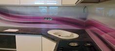 Sklo do kuchyne - sklenená zástena - Sliač
