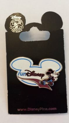 2013 Mickey Mouse Marathon Run Disney Pin Trading Collectible Lapel Pin