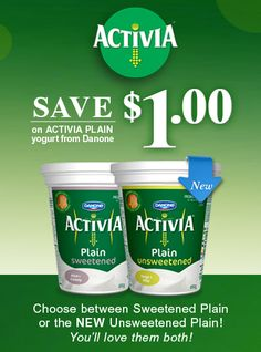 Danone Activia Plain Yogurt coupon