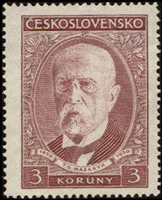 Znaczek: Tomáš Garrigue Masaryk (1850-1937), president (Czechosłowacja) (Tomáš Garrigue Masaryk, 80th Birth Anniversary) Mi:CS 300,Sn:CS 176,Yt:CS 271,AFA:CS 164,POF:CS 262