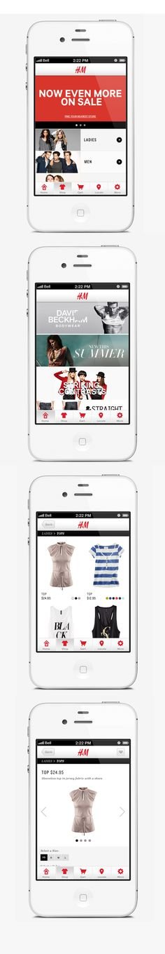 UI. Mobile layout ecommerce graphic design. H.