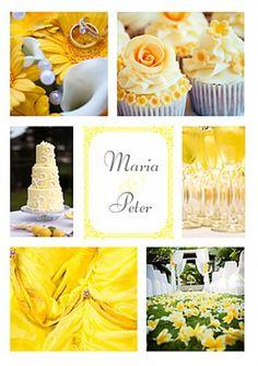 Hochzeitseinladung in gelb