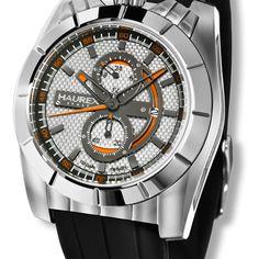 Haurex Italy Men's Tonneau Watch In Silver