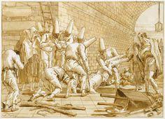 Giovanni Domenico Tiepolo (son of Giovanni Battista Tiepolo) , Death of Punchinello