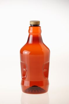 New plastic growler in amber