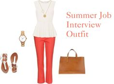 """""""Summer Job Interview Outfit"""" by alice2bnurse on Polyvore"""
