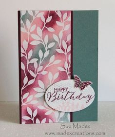 Love this Irresistibly Yours DSP from Stampin' Up www.madexcreations.com Lost Lagoon and Blackberry Bliss