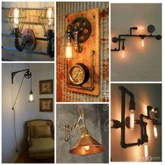 Настенные (бра) Pipe Lamps лофт, стимпанк, лампа из труб, pipe lamps