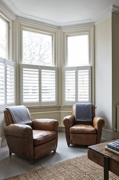 There's nothing more charming than cafe shutters (or half shutters) in a bay window. Get privacy where you need it and let in light from the top.