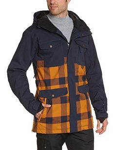 Quiksilver Men's Reply Jacket 10K Jacket Orange M Quiksilver Snow ++You can get best price to buy this with big discount just for you.++