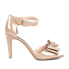 Bow Heel in Taupe.