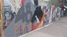Finished piece - Newso and Gent - Aerosol Art Jam - Cardiff Empty Walls Festival 2014