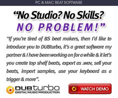 Dub Turbo Review – Is This DUBTurbo Music Beat Maker Really Worth It?    Dub Turbo Review    If you would like to make jokes and I'm sure you're online, if you are in this blog, then you've probably already heard of Dub Turbo now.    E 'causing quite a stir because it is the first DAW (Digital Audio Workstation) to be released with all the features a recording studio is fully functional and in a fraction of the price. http://www.resale-ebooks.com/go/link/8542/1