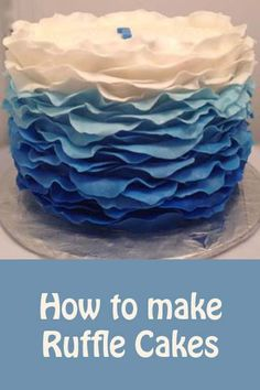 Blue Ruffle Cake | Little Delights Cakes