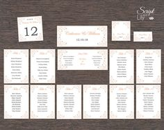 Butterfly  Seating Chart Table Numbers & Place by ScriptAndLily