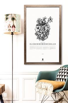 ROYAL ROULOTTE -★- PRINT POSTER SOMETHING OLD NEW BORROWED BLUE