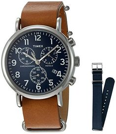 Women's Wrist Watches - Timex TWG012800QM Analog Quartz Brass Brown  Blue Weekender Watch *** Check out this great product.