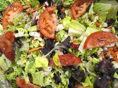 gorgeous dark leafy green salad
