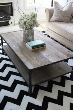 Chevron rug. Love