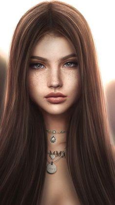 Digital Art Girl, Digital Portrait, Portrait Art, Drawing Portraits, Art Anime Fille, Anime Art Girl, Anime Girls, Chica Fantasy, Fantasy Girl