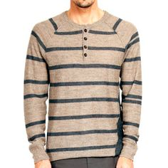 Vernius Stripe Henley Oasis Blue, $222, now featured on Fab.