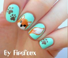 What does the fox say nails - learn #nailart from the best tutors at http://bit.ly/1dJOkf2
