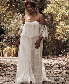 cd63afb0b3b grace loves lace 2019 bridal strapless detached flutter sleeves semi  sweetheart soft a line embellished lace wedding dress sweep train plus size  boho ...