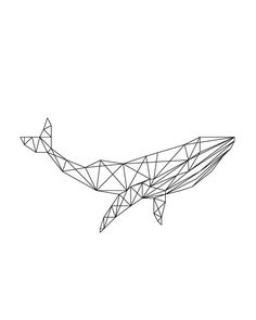 this can be a good design for man too. Whale Art Print Geometric Whale Print by LittleHawthorneArt Tape Art, Geometric Designs, Geometric Shapes, Handpoked Tattoo, Minimal Art, Whale Tattoos, Geometric Drawing, Whale Print, Geometry Art