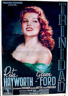 Affair in Trinidad Movie Poster Italy Rita Hayworth Ford 1952