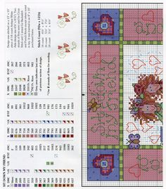 Friends for life Cross Stitch Samplers, Counted Cross Stitch Patterns, Cross Stitch Charts, Cross Stitch Designs, Cross Stitch Embroidery, Cross Tree, Cross Stitch Flowers, Basic Colors, Mug Rugs