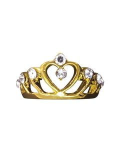 Heart In Crown Ring