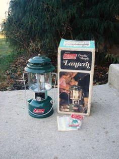 Vintage Green Coleman Lantern NIB