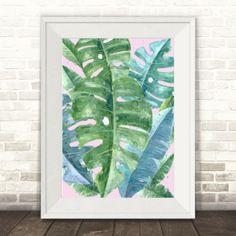 Monstera leaf print | hardtofind.