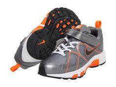 Nike Kids T-Run 3 Alt (Toddler/Youth) Metallic Cool Grey/White/Total Orange/Anthracite - Zappos.com Free Shipping BOTH Ways