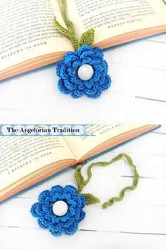 Crochet Rose Bookmark Pattern By Angelorian Traditon