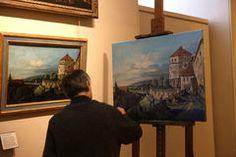 Peintre de copiste au travail, le Louvre, Paris, André Martin