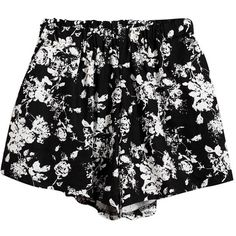 Chicnova Fashion Ink Painting Print Shorts ($17) ❤ liked on Polyvore featuring shorts, bottoms, print shorts and patterned shorts