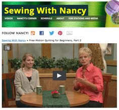 Free-Motion Machine Embroidery for Beginners as seen on Sewing With Nancy Zieman with guest Molly Hanson