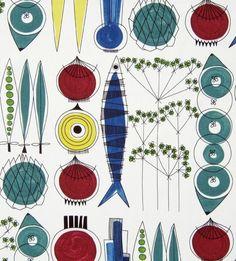 Image of scandinavian fabric picnic