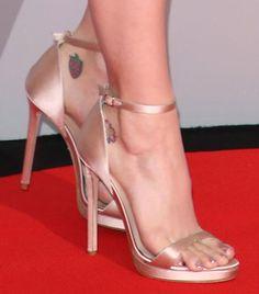 Katy Perry wearing Versace sandals