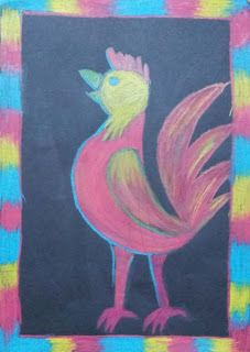 Dream Painters: Picasso-style Roosters & Other Birds: Candice N (Year 6)