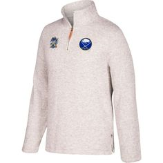 CCM Men's 2018 Winter Classic Buffalo Sabres White Quarter-Zip Pullover, Size: Small, Team