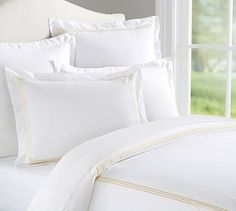 Grand 280-Thread-Count Embroidered Duvet Cover & Sham #potterybarn