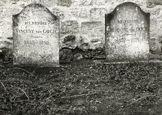 The graves of the famous Dutch painter Vincent van Gogh (1853-1890) and his brother Theo [Theodore] van Gogh (1857-1891) at the churchyard in Auvers-sur-Oise, France. Photo out of 1927.