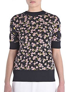 Marni - Floral Knit Tie-Back Top